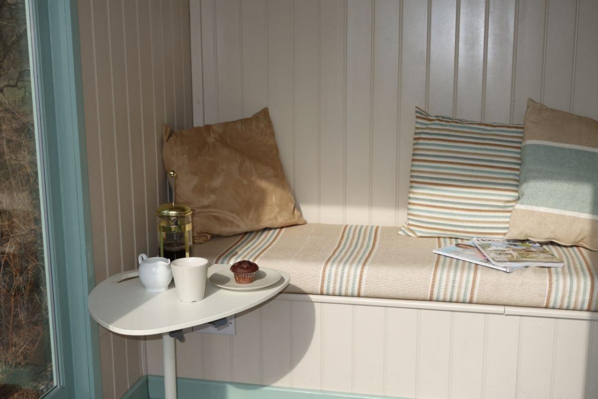 Relaxing in Ty Mari Garden Room