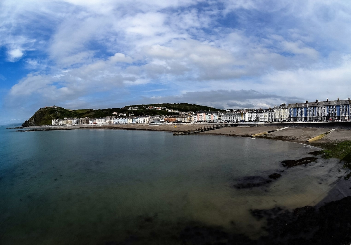 The historic Aberystwyth seafront