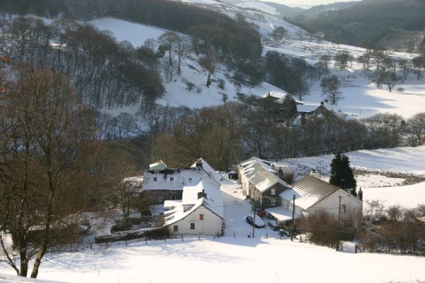 Winter in Cwmystwyth but the cottages are cosy!