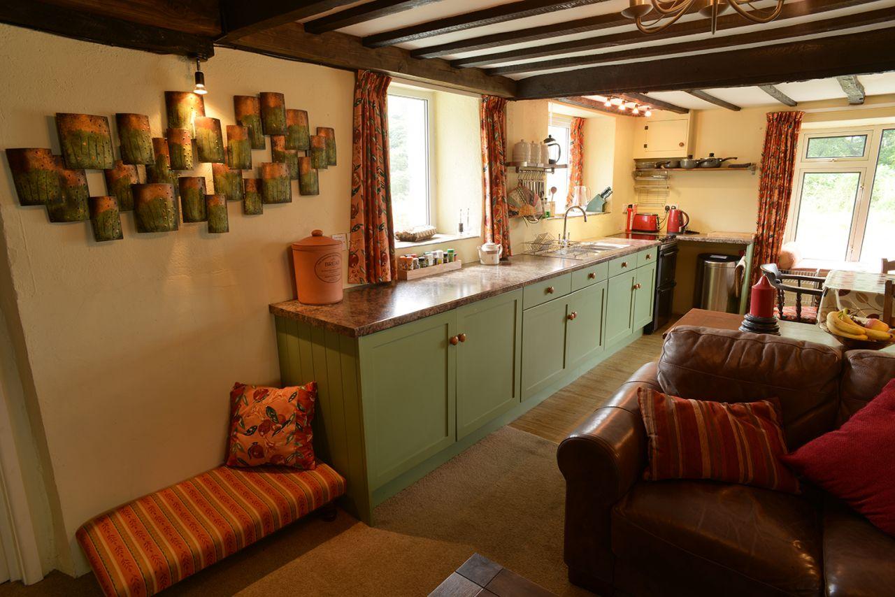 Ty Mari holiday cottage kitchen area