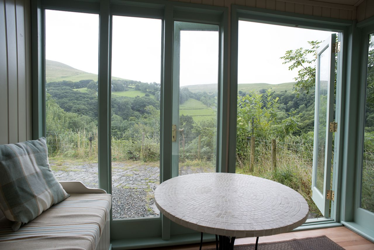 The Ty Mari dog friendly holiday cottage garden room is a cosy quiet place!