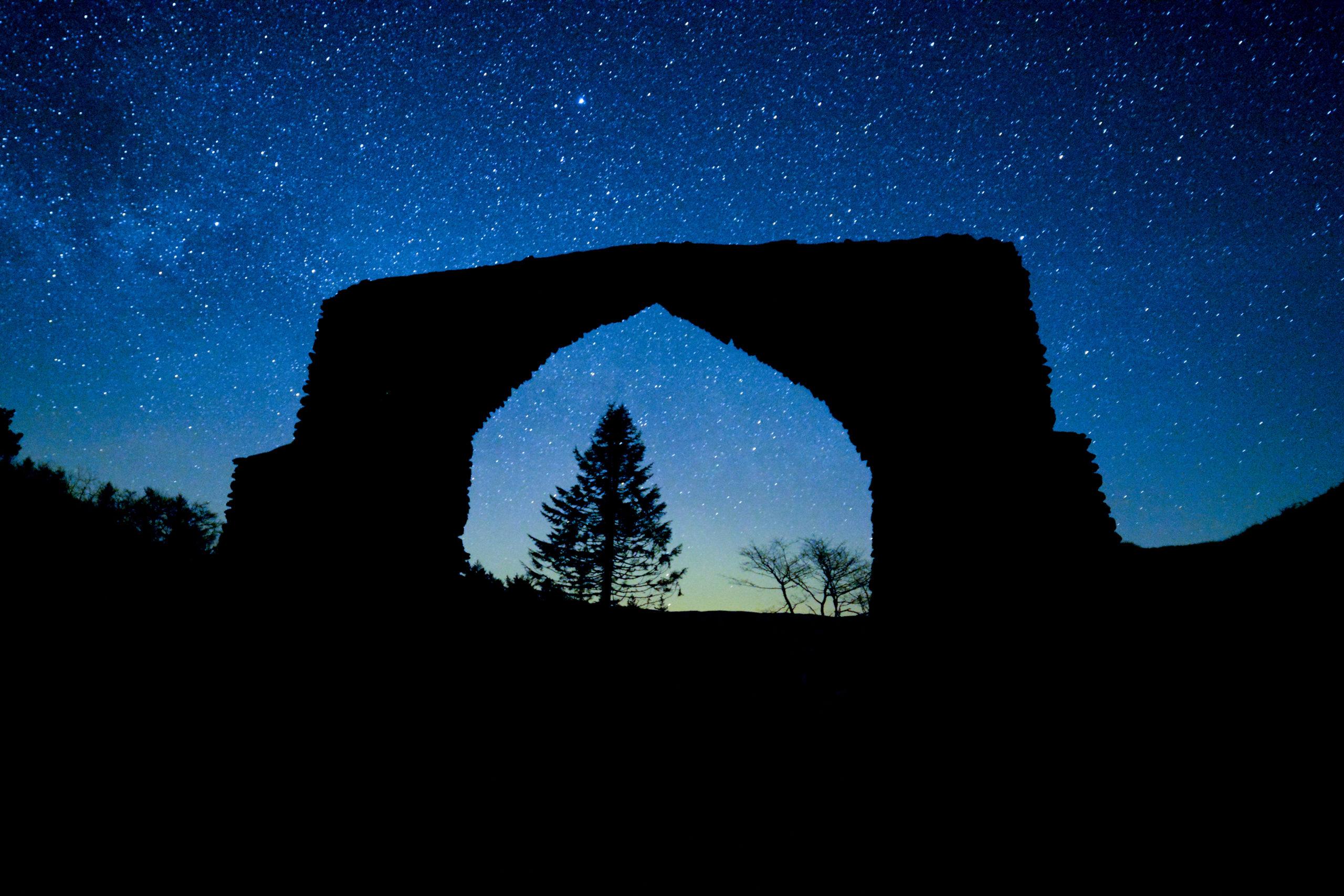 The Arch by starlight © Dafydd Wyn Morgan/Cambrian Mountains Initiative
