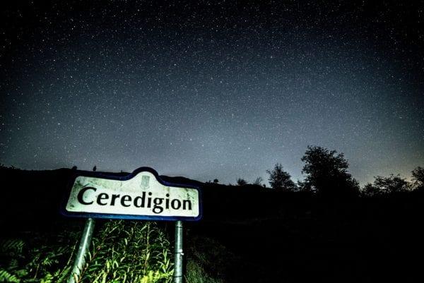 Ceredigion and dark night sky
