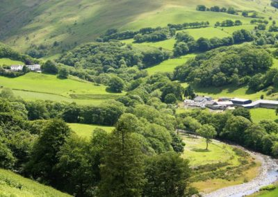 Welsh Hideaways holiday cottages on left of picture