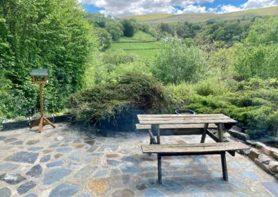 Penroc holiday cottage patio